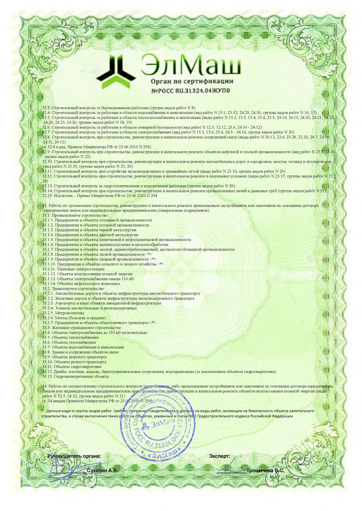 Электролид сертификация менеджмента системы качества Элмаш Приложение стр 6