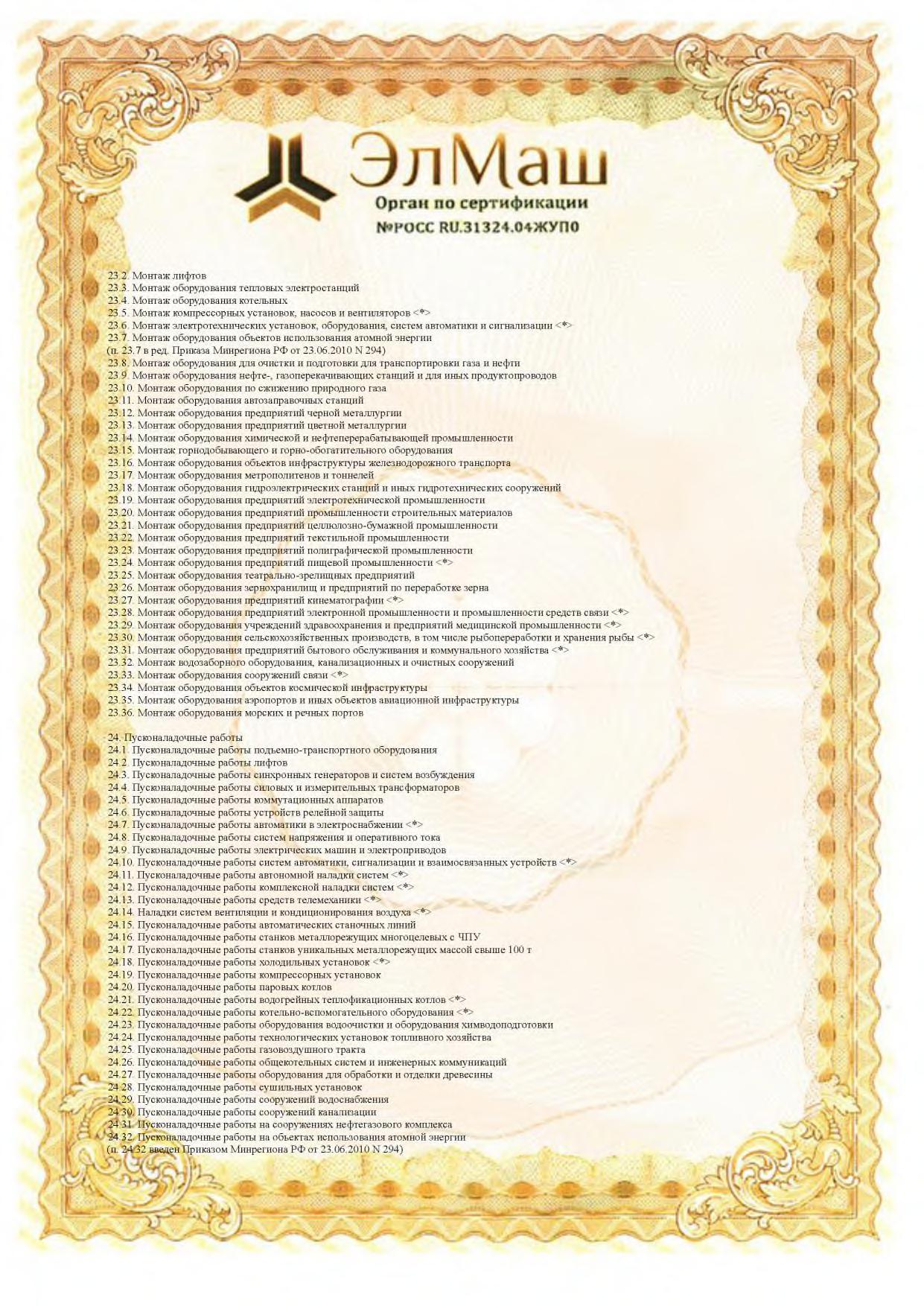 Сертификат соответствия Приложение стр 4